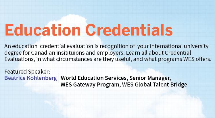 Credential Evaluation Webinar
